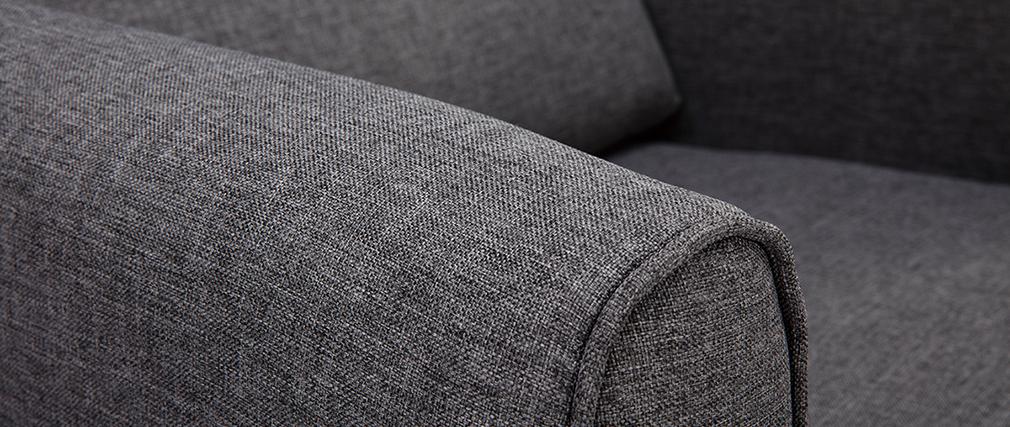 Poltrona design tessuto grigio scuro VIVO