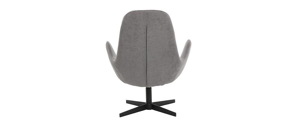 Poltrona design velluto grigio ANDY