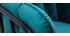 Poltrona di design in velluto blu petrolio MALONE