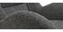 Poltrona e poggiapiedi design in tessuto grigio ZOE