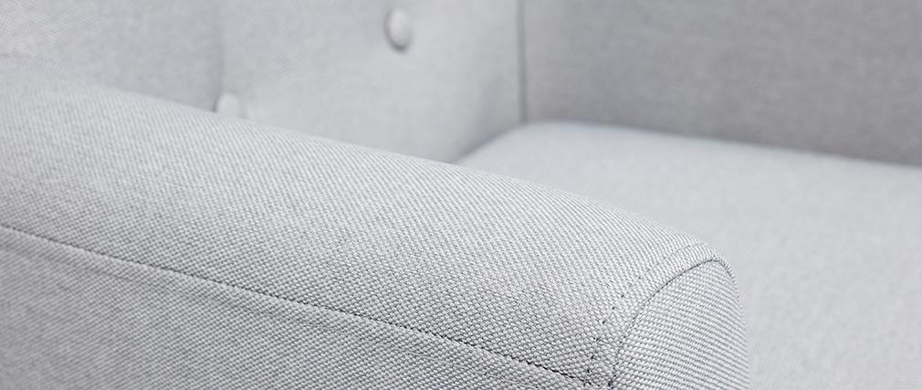 Poltrona per bambino scandinavo grigio chiaro NORKID