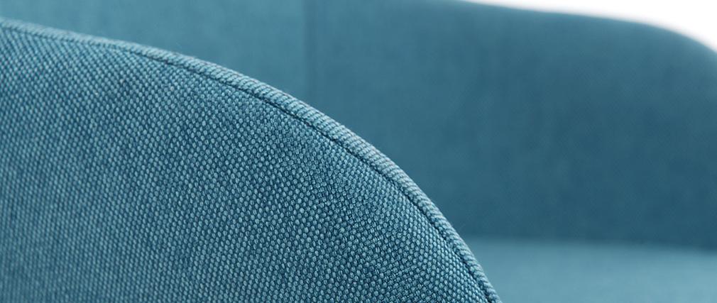 Poltrona relax - Baby sedia a dondolo tessuto blu gambe in metallo e frassino JHENE