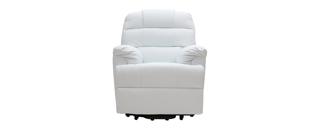 Poltrona relax elettrica alzapersona in bianco PHOEBE