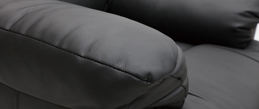 Poltrona relax elettrica alzapersona in nero PHOEBE