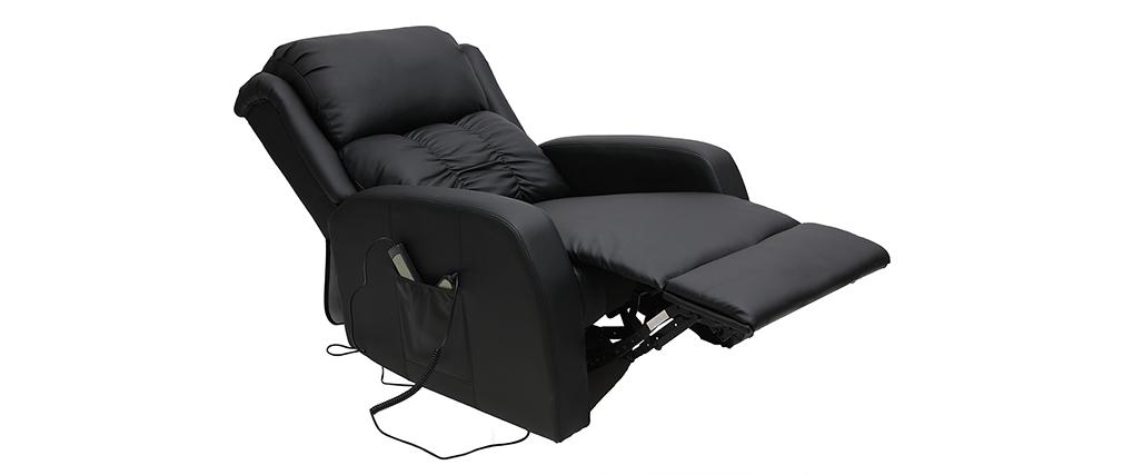 Poltrona relax elettrica massaggiante nera GALLER