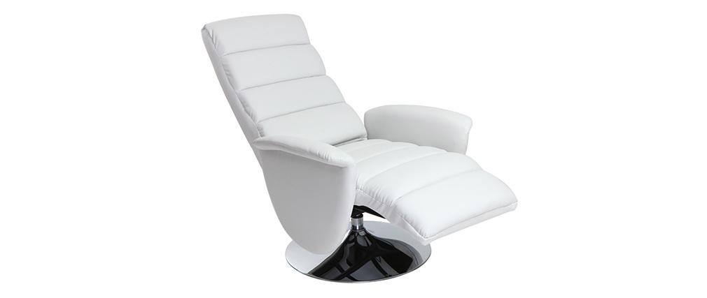 Poltrona relax manuale bianco NELSON