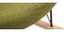 Poltrona relax - Sedia a dondolo tessuto verde gambe in metallo e frassino - JHENE