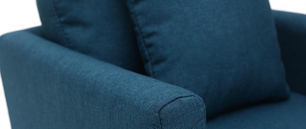 Poltrona scandinava bambino sfoderabile in tessuto blu anatra BABY OSLO