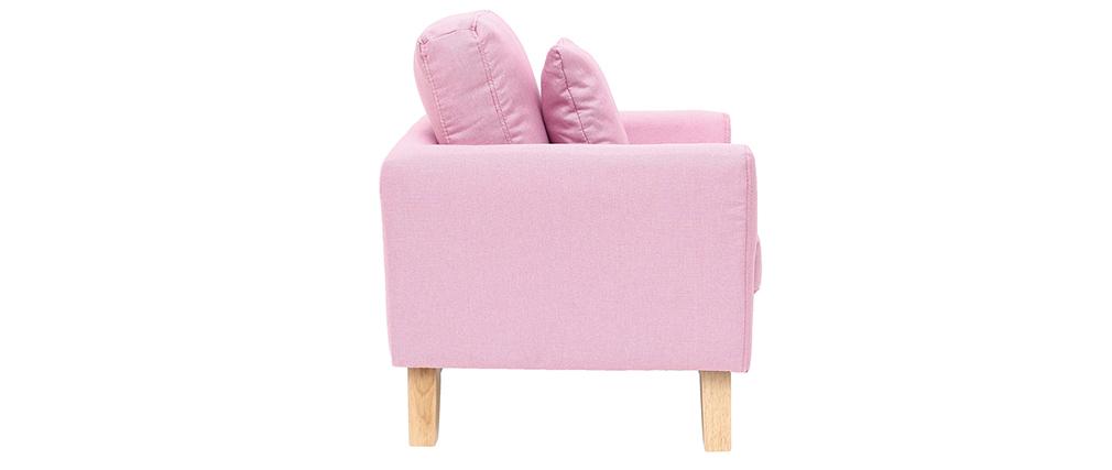 Poltrona scandinava bambino sfoderabile in tessuto rosa BABY OSLO