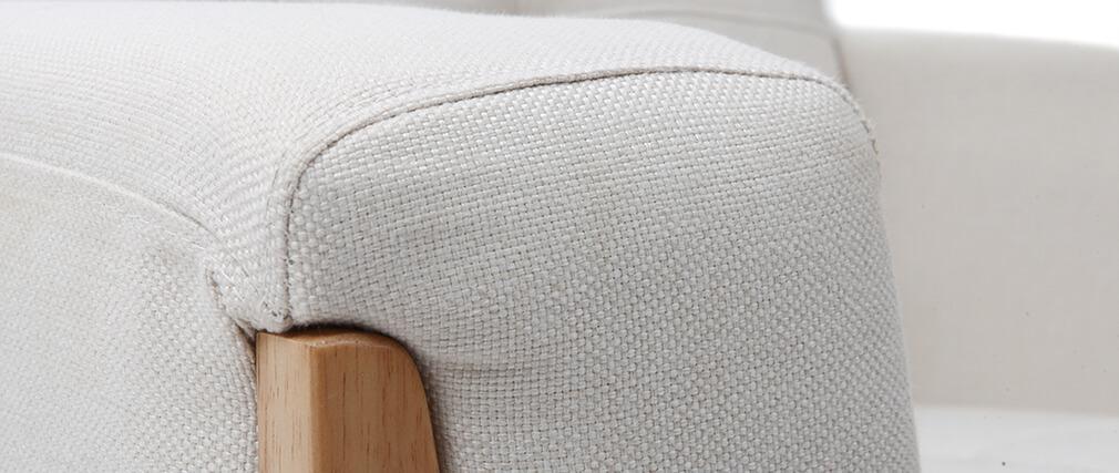 Poltrona scandinava bianca piedi in legno FJORD