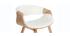 Poltrona scandinava bianco e legno chiaro ARAMIS