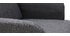 Poltrona scandinava blu grigio scuro e legno ISKO