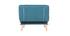 Poltrona scandinava convertibile in tessuto blu anatra BENNIE