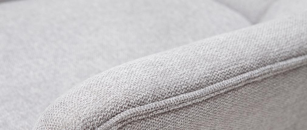 Poltrona scandinava grigio chiaro e legno BRODY