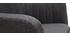 Poltrona scandinava grigio scuro e piedi in quercia ALEYNA