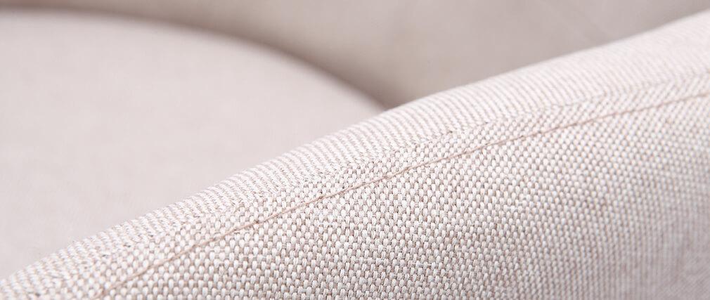 Poltrona scandinava tessuto naturale e piedi legno gruppo di 2 BALTIK