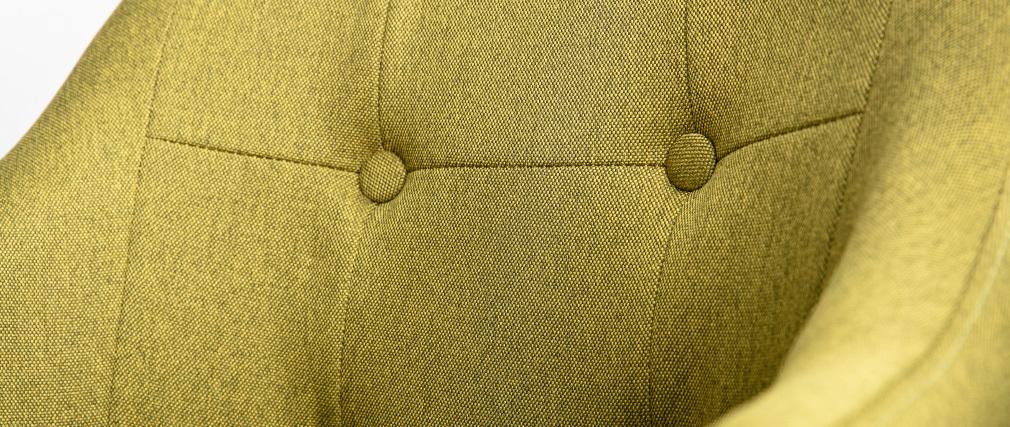 Poltrona scandinava tessuto verde e piedi legno gruppo di 2 BALTIK