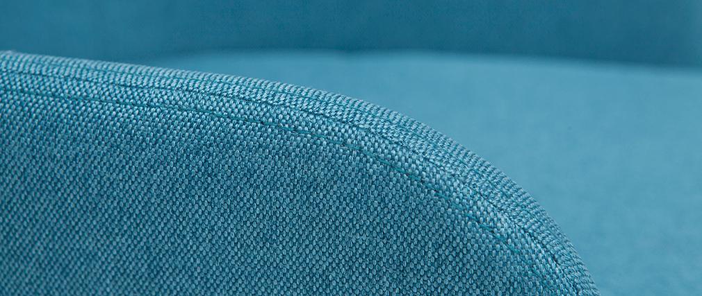 Poltrona sedia a dondolo design in tessuto blu anatra SHANA