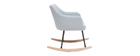 Poltrona sedia a dondolo design in tessuto grigio chairo BALTIK