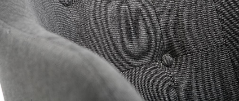 Poltrona sedia a dondolo design in tessuto Grigio scuro BALTIK