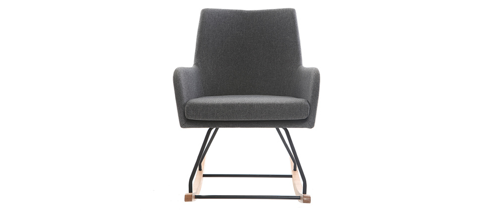 Poltrona - sedia a dondolo design in tessuto Grigio scuro SHANA