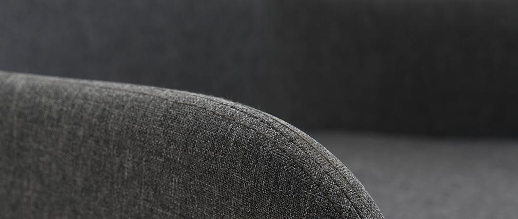 Poltrona sedia a dondolo design in tessuto grigio scuro SHANA