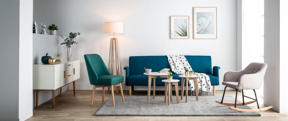 Poltrona - sedia a dondolo design in tessuto Naturale BALTIK