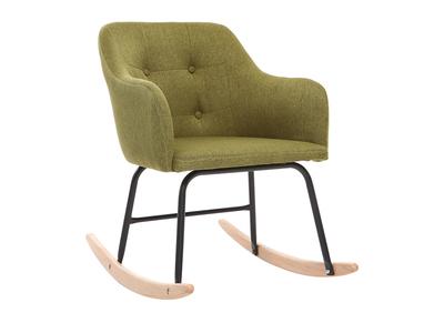 Poltrona - sedia a dondolo, di design, in tessuto, colore: Verde, modello: BALTIK