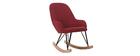Poltrona - sedia a dondolo per bambini bordeaux piedi in metallo e legno JHENE