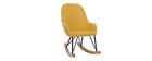Poltrona sedia a dondolo per bambini giallo piedi in metallo e frassino JHENE