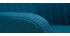 Poltrona-sedia a dondolo scandinava in tessuto Blu anatra ALEYNA