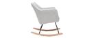 Poltrona-sedia a dondolo scandinava in tessuto grigio chiaro ALEYNA