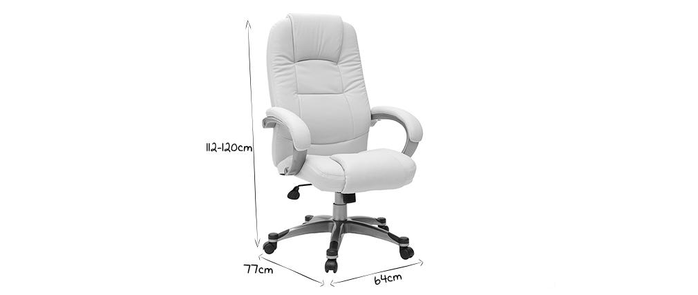 Poltrona / sedia da ufficio TORONTO colore avorio