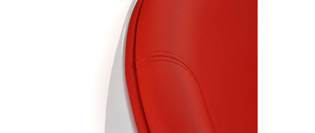 Poltrona / sedia design stanley bianca e rossa in abs e ...