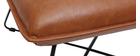 Poltrona vintage marrone con poggiapiedi PHILO