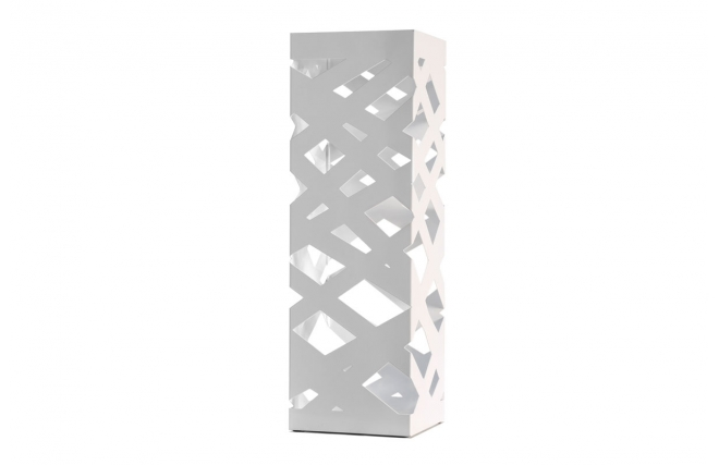 Portaombrelli design metallo laccato bianco urban miliboo - Portaombrelli design originale ...