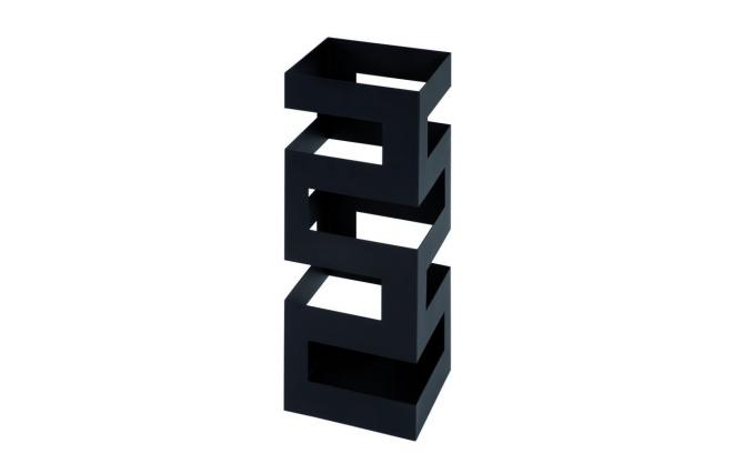 Portaombrelli design metallo laccato nero quadry miliboo - Portaombrelli design originale ...