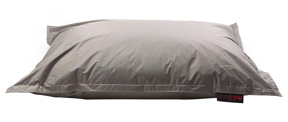 Pouf gigante design grigio chiaro BIG MILIBAG