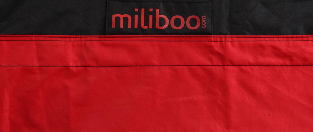 Pouf gigante design nero e rosso BIG MILIBAG