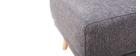 Pouf / poggiapiedi tessuto grigio scuro ULLA