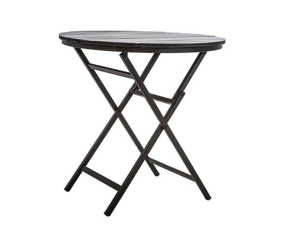 Salotto da giardino con tavolo pieghevole e 2 sedie