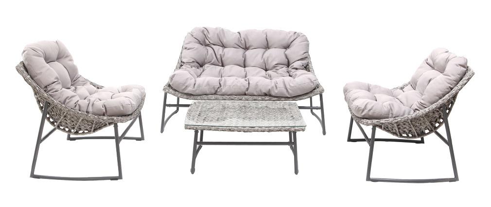 Salotto da giardino design grigio COMFY