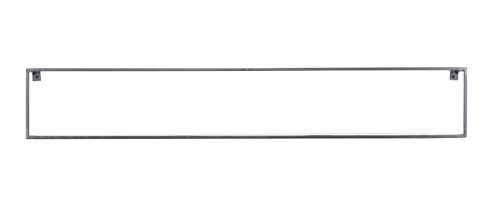 Scaffale da parete design in metallo Nero 100cm GLENN