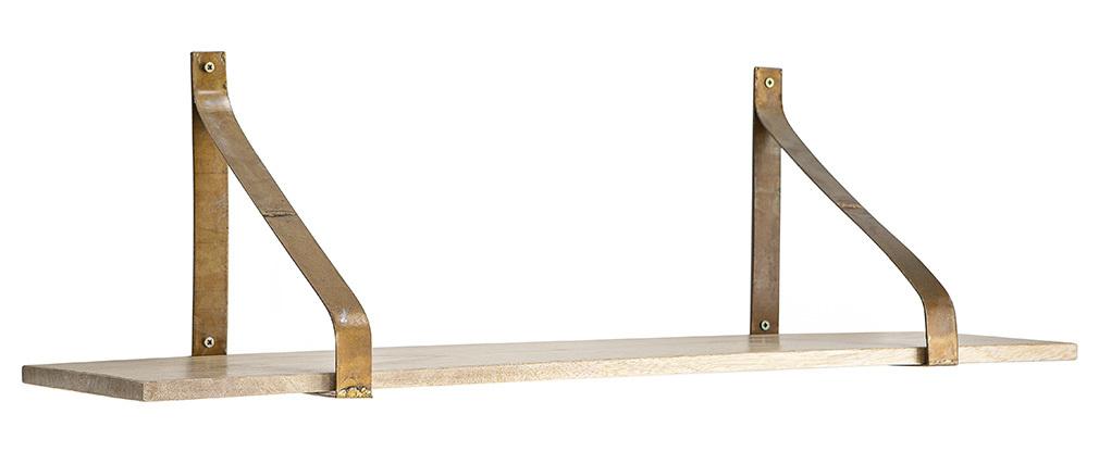 Scaffale da parete in metallo Ruggine e legno 80cm MODO