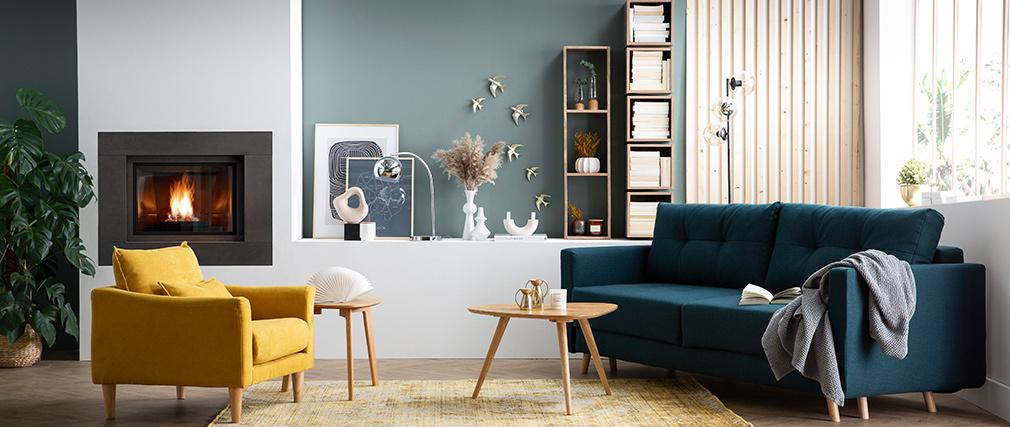 Scaffale murale industriale legno di mango YPSTER