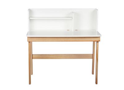 Scrivania da bambino, colore: Bianco e legno, dimensioni: 105cm, modello: KUN