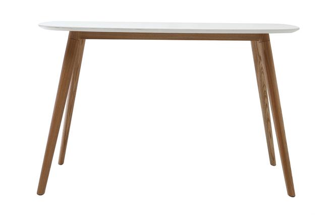 Scrivania In Legno Chiaro : Scrivania design cm legno e bianco swift miliboo