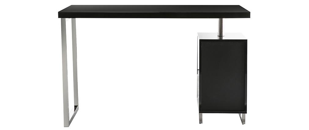 Scrivania design 2 cassetti laccata nera LEXI