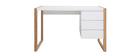 Scrivania design 3 cassetti bianco ARMEL