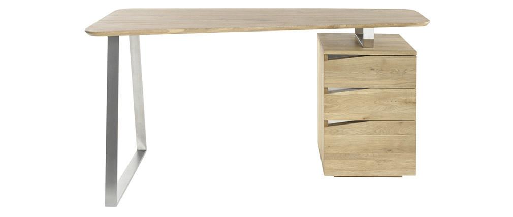 Scrivania design con cassetti metallo e legno L150 JANIS
